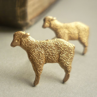 Spring Lamb Earrings