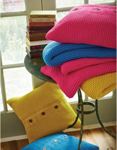 Moss Knit Throw by Joules