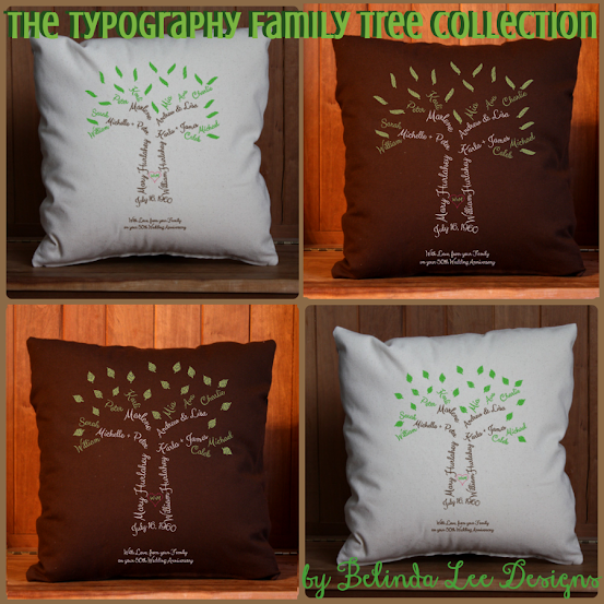 family tree pillow with names starting with my parents and going up to their grandchildren | The Typography Collection of Custom Family Trees in Willow and Oak Tree Styles | Belinda Lee Designs | Mothers Day Gift | Family Tree with Childrens Names On Top of Grandparents Names
