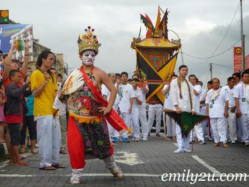 Nine Emperor Gods street procession Ipoh
