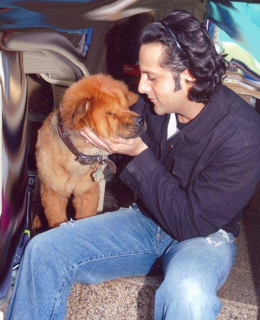 Fardeen Khan and his dog