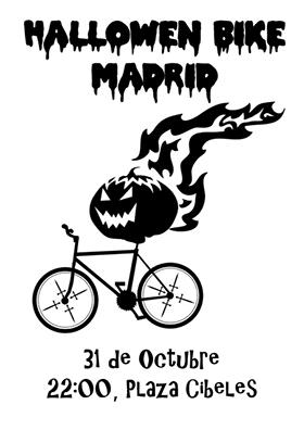 Halloween Bike Madrid 2012, el miércoles 31 de octubre a las 22:00 en Cibeles