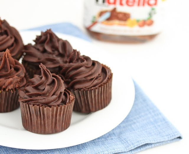 photo of nutella cupcakes on a plate