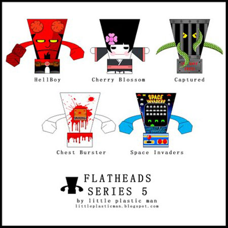 Flat Heads Paper Toy Series 5