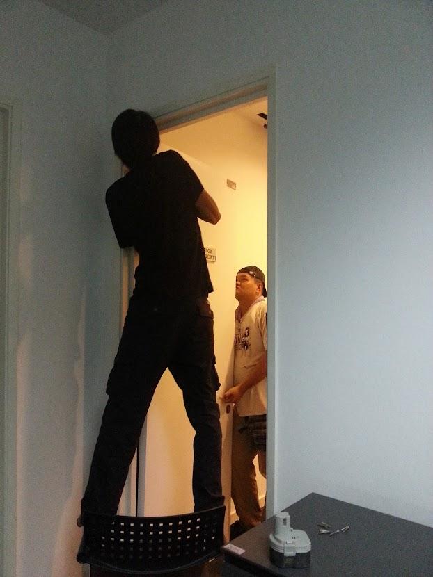 install office door