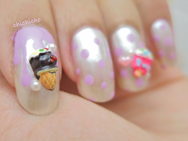 3D Ice Cream Decor Nail Art