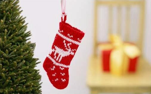 Sfondi di Natale calza con una renna