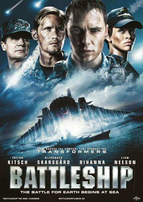 Poster Of Battleship (2012) Full Movie Hindi Dubbed Free Download Watch Online At Alldownloads4u.Com