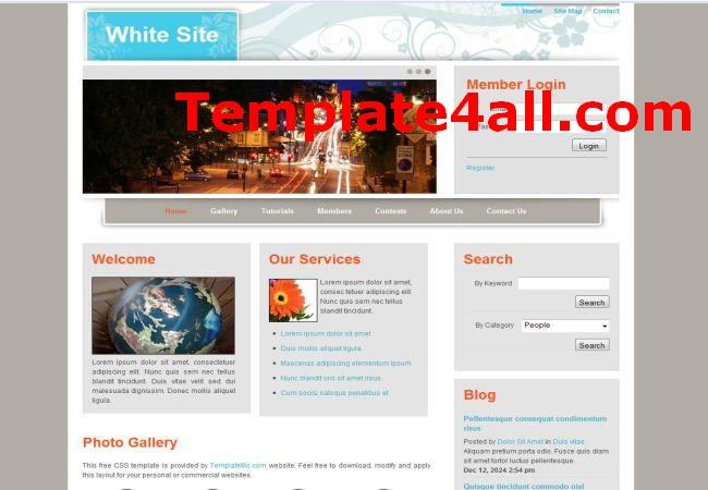 Floral White Website Template