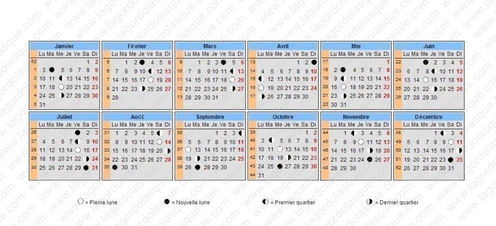 Calendrier lunaire 2017 grossesse - Calendrier chinois bebe 2017 ...