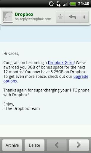 Dropbox 增加容量上限
