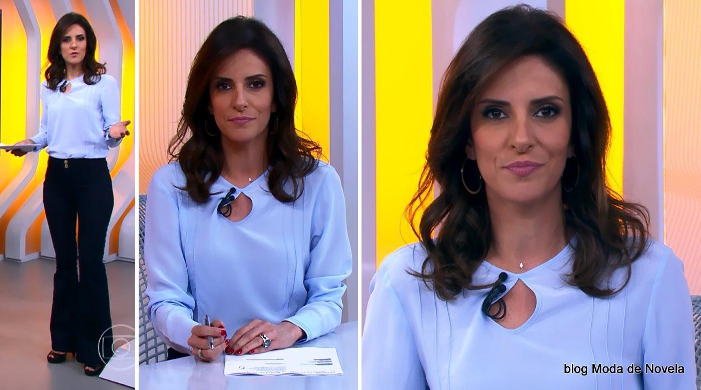 moda do programa Hora 1, look da Monalisa Perrone dia 02 de dezembro de 2014