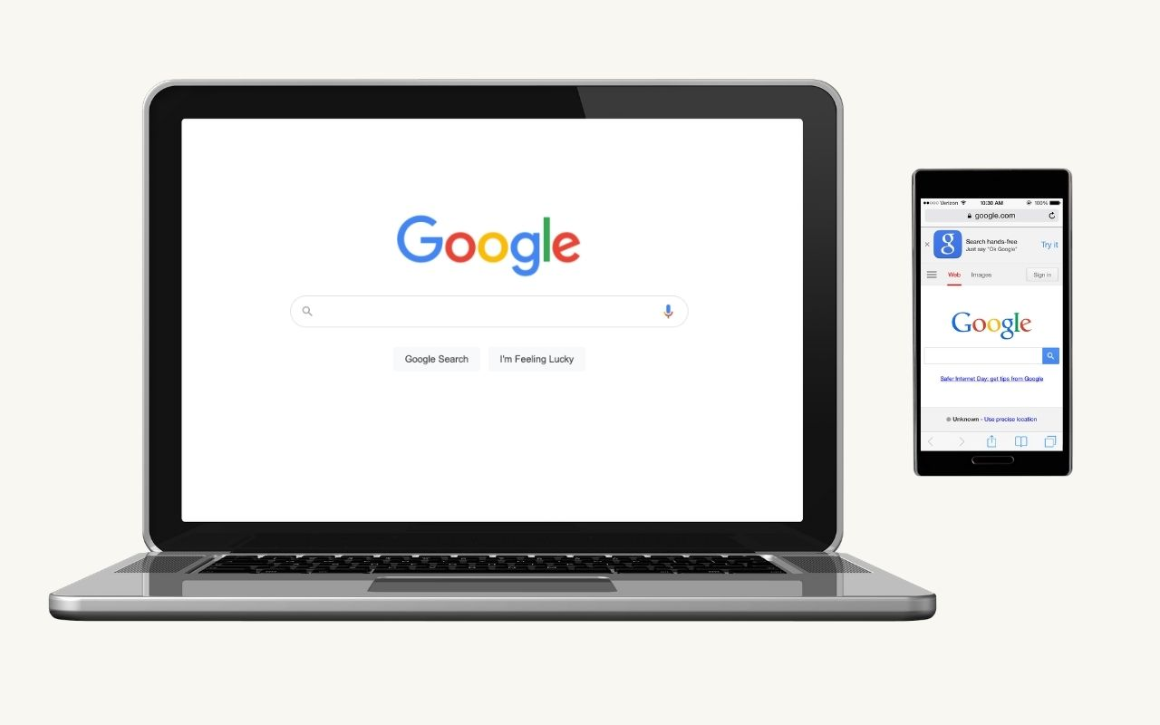 Google Search on desktop and mobile