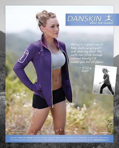 Danskin Sportsbra  campaign - Hilary Duff
