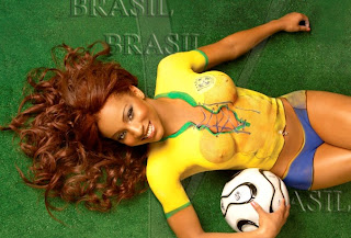 Soccer Girls Body Painting Pictures - Vargas Body Painting