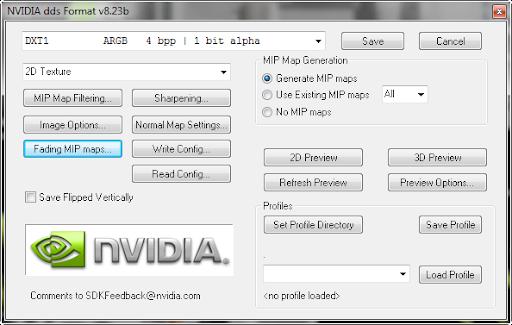 Photoshop - NVIDIA Texture Tools v8.55 Plugin for Photoshop ปลั๊กอินสำหรับเปิดไฟล์นามสกุล dds Dds