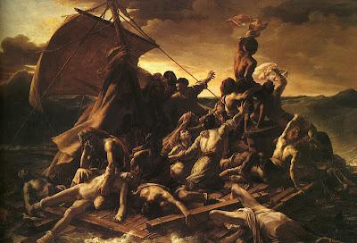 An welche philosophischen Grenzen und der Hunger treibt: Das Floß der Medusa (Le radeau de la Méduse) von Théodore Géricault Quelle: wikimedia