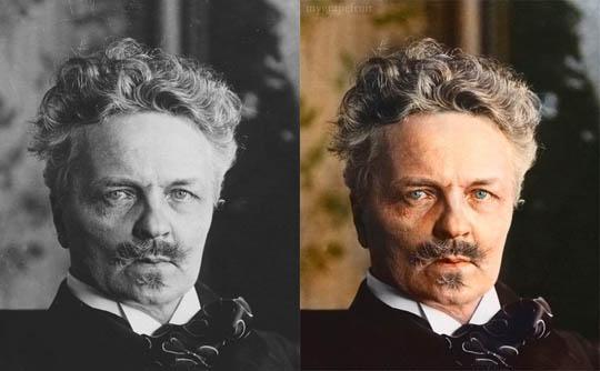 Аугуст Стриндберг - Най-известните исторически черно-бели фотографии в цвят