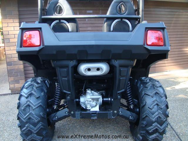 800cc Strike Hisun PQV-800 XUV Farm Sports UTV Side by side Black Rear