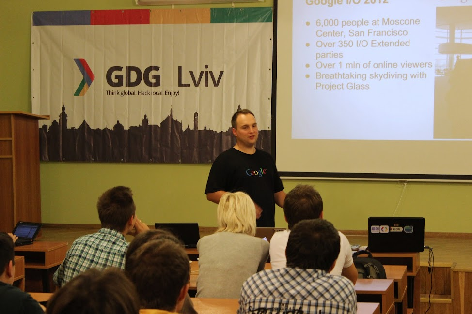 Dawid Ostrowski виступає на TechTalks with Google'rs