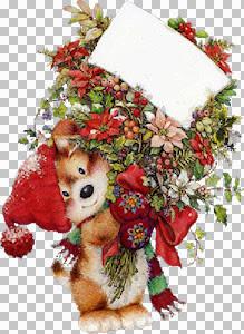 MYST~2    AP_LISI MARTIN_DOG WITH CHRISTMAS FLOWERS.jpg