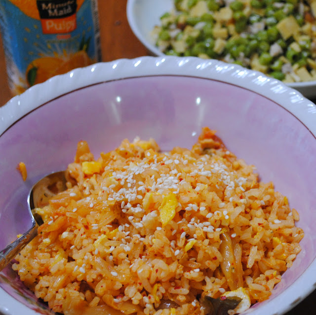 easy kimchi fried rice recipe by ServicefromHeart