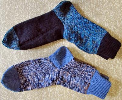 Socken aus Sockenwollresten