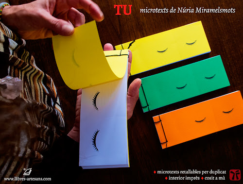 Tu, microtexts de Núria Miramelmots - Llibres Artesans
