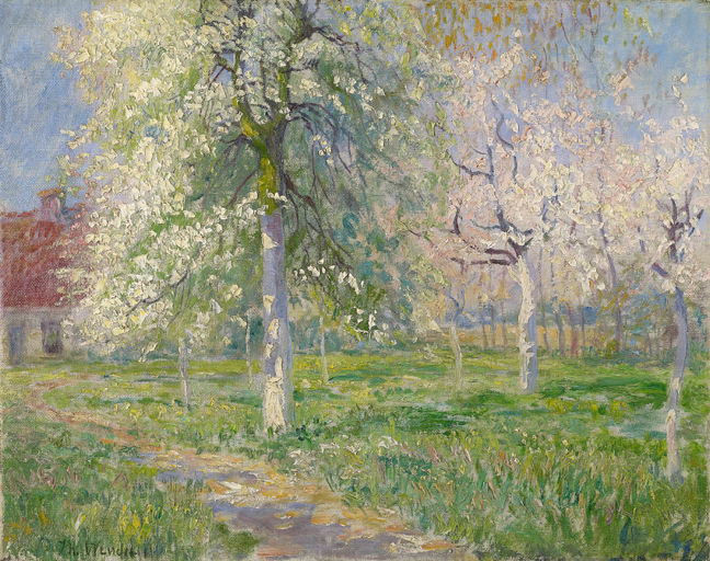 Theodore Wendel – Giverny Farmhouse in Spring