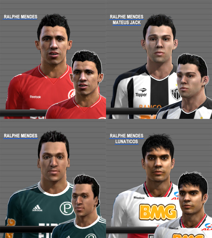 Daniel C., Leandro D., Filipe S. Henrique Faces - PES 2012