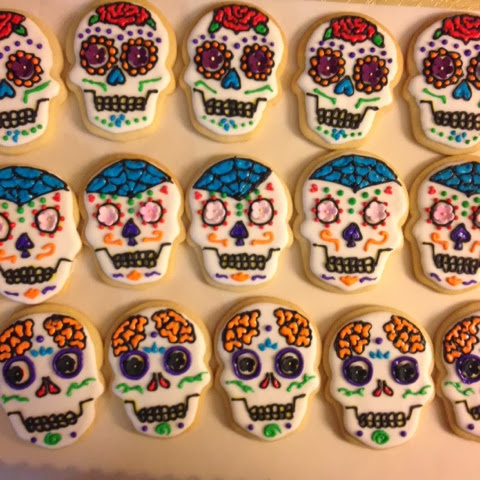 Decorated Skull Cookies Sugar Cookies Decorated With