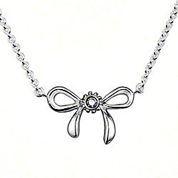Thomas Sabo diamond bow necklace
