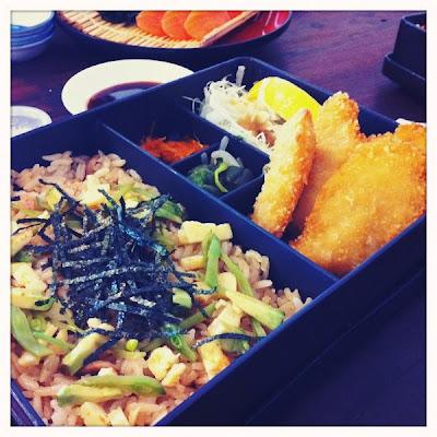 Ohnamiya Japanese Prawn Katsu in Sushi Rice Box
