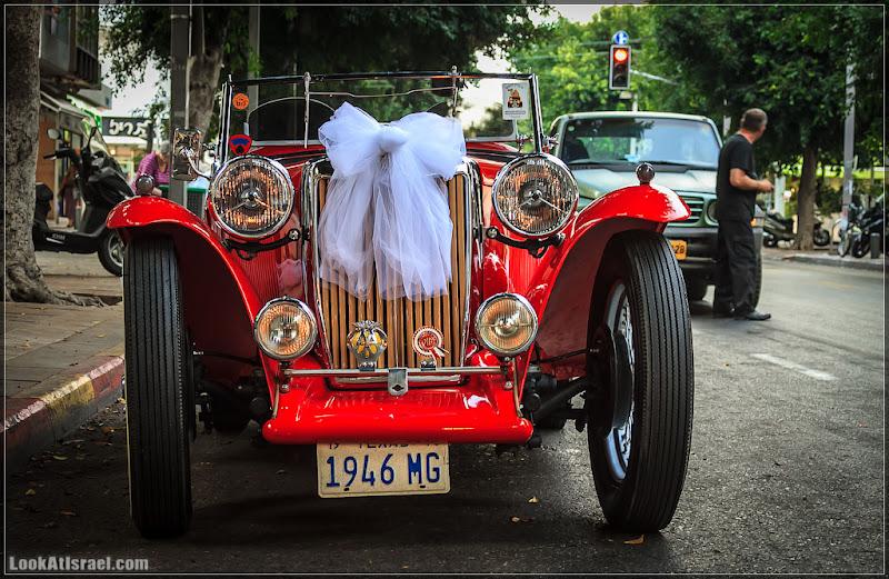 Свадьбо ретро мобиль (israel  тель авив дизенгофф авто  20120614 ta retro wedding car 001 9946)