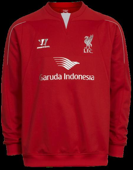 Sweater Pre Match Liverpool Merah 2014-2015