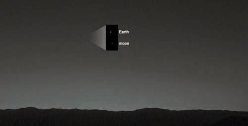 Curiosity Rover Sees Evening Star Earth