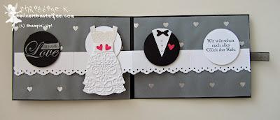 stampin up, special wedding card, besondere hochzeitskarte, zum schönsten tag, love&laughter, dress up, punch art brautpaar, bride, groom, follow your heart, owl punch, eulenstanze