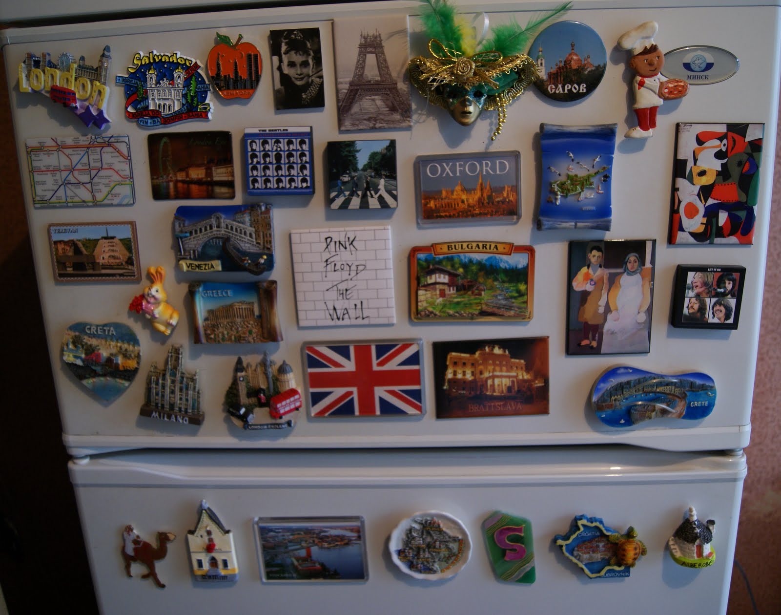 fridge with magnets