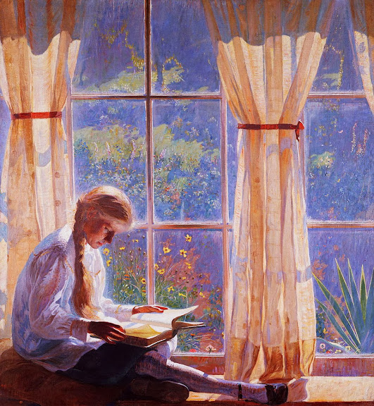 Daniel Garber - Orchard Window Reading