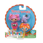 pack de 4 cabezas (2 mini Lalaloopsy y su respectiva mascota) para lápices, bolígrafos... En este caso, Bea Spells-a-lot + Peanut Big Top)