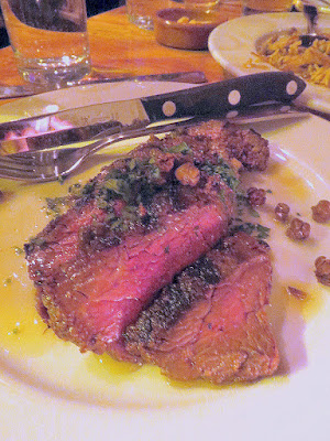 Mediterranean Exploration Company, Hanger Steak with caper. garlic