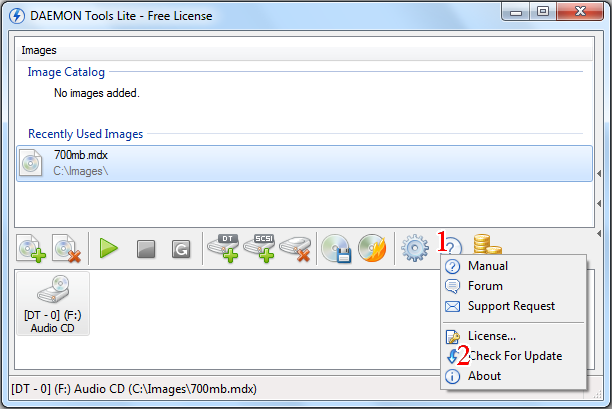 Screenshot of DAEMON Tools Lite v.4.47.1 CD DVD Tools PC Software Free Download at Alldownloads4u.Com