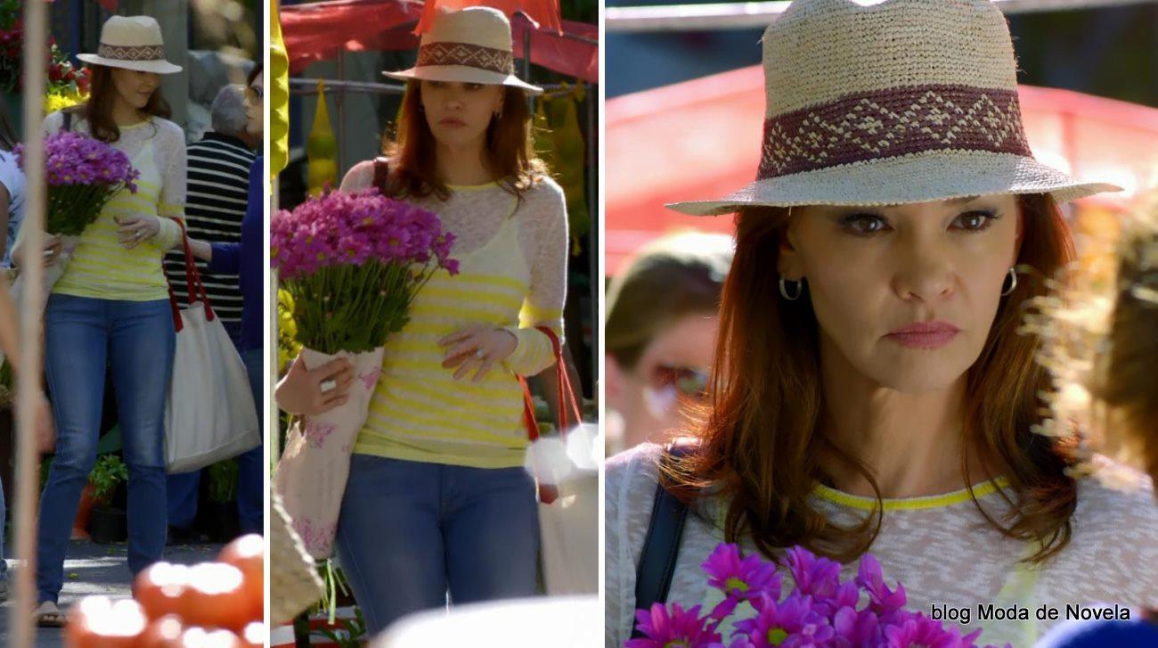 moda da novela Em Família - look da Helena dia 01 de maio