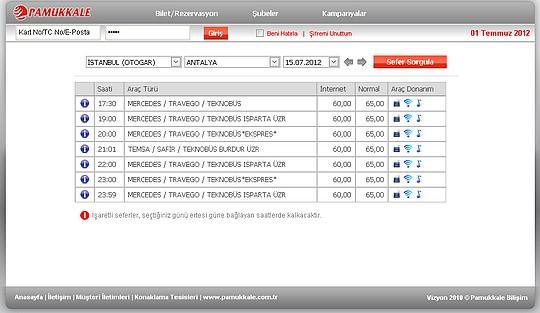 Antalya+Otobüs+bilet+fiyatları pamukkale