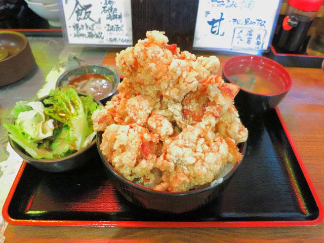 デカ盛りから揚げ丼@ご飯大盛りセット