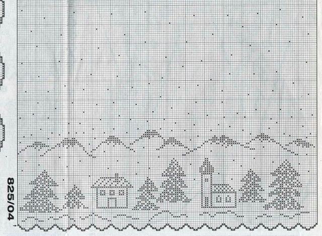 cortinas tejidas navideñas 1117568261391