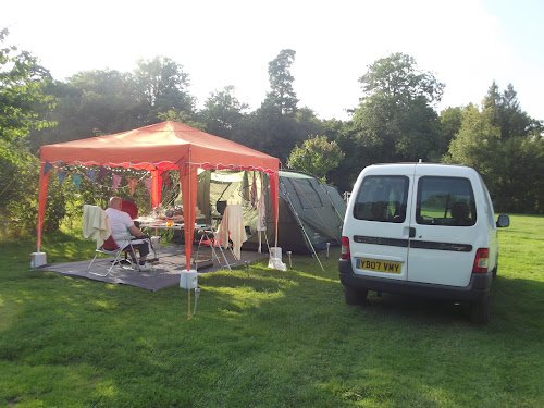 Camping  at Brokerswood Country Park