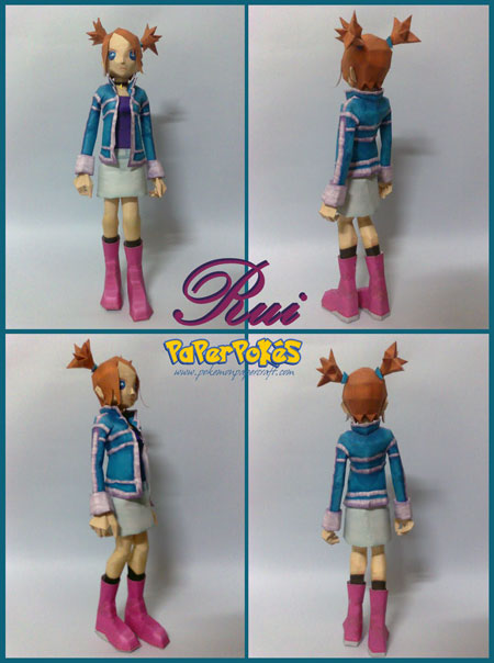 Pokemon Colosseum Rui Papercraft