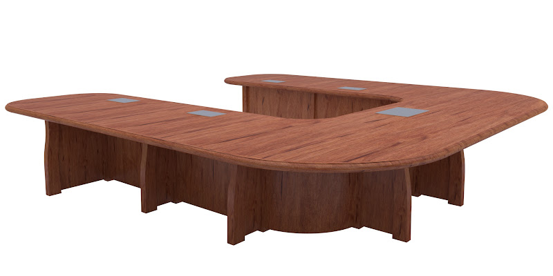 Handcrafted Custom Conference Tables From Erik Organic - U shaped conference table