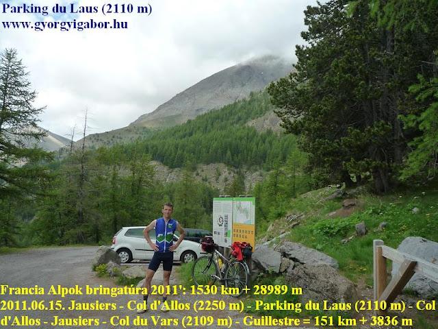 Györgyi Gábor & Francia Alpok kerékpártúra, Parking du Laus